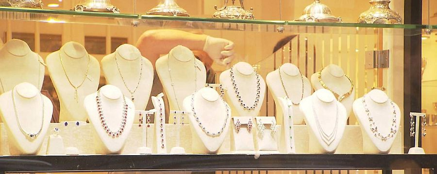 Auslage eines Juweliergeschäftes