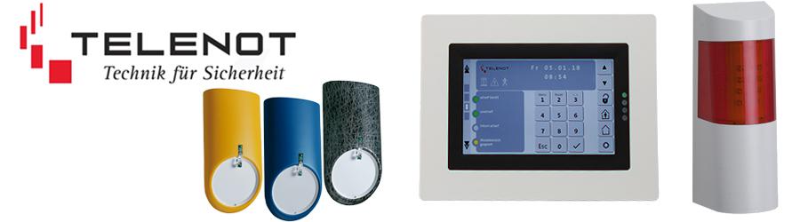 Produkte Telenot: Melder, Sensoren, Bedienteile